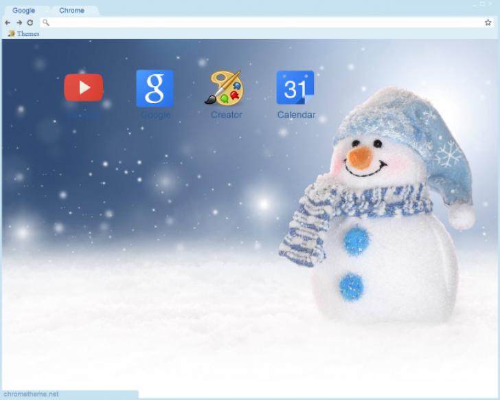 Winter snowman chrome theme themebeta - Winter theme chrome ...