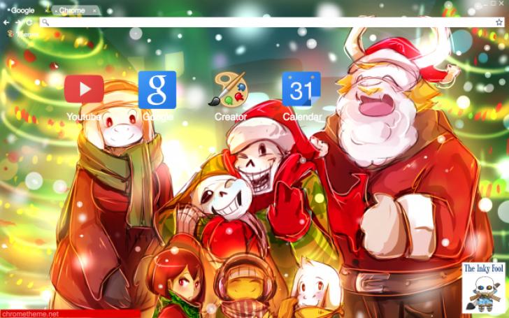 Undertale Christmas.Undertale Christmas Chrome Theme Themebeta