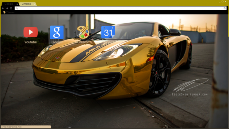 Gold Mclaren P1 Chrome Theme