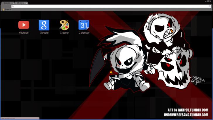 Cross!Sans Vs Fell!Sans Chrome Theme - ThemeBeta