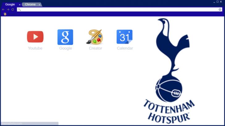 Tottenham Hotspur Logo Chrome Theme Themebeta