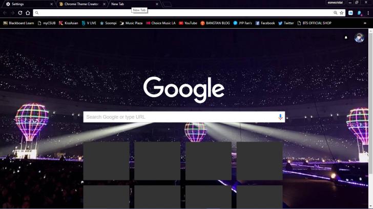 BTS WINGS Concert Seoul Chrome Theme - ThemeBeta
