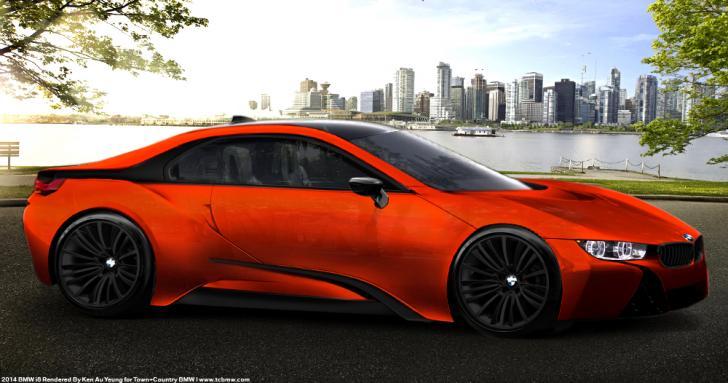Orange Bmw I8 Chrome Theme Themebeta