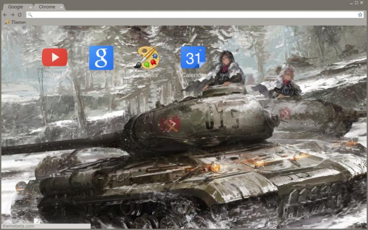 Pravda IS-2 Nona Girls und Panzer Chrome Theme - ThemeBeta