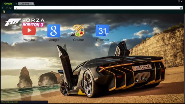 Forza Horizon 3 Lamborghini Centenario Chrome Theme