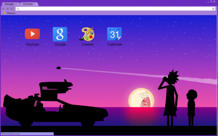 rick and morty aesthetic chrome theme