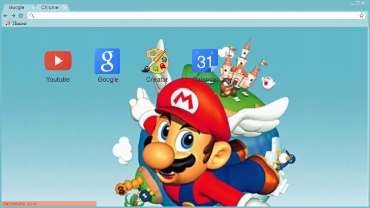 Super Mario 64 Theme Chrome Theme - ThemeBeta