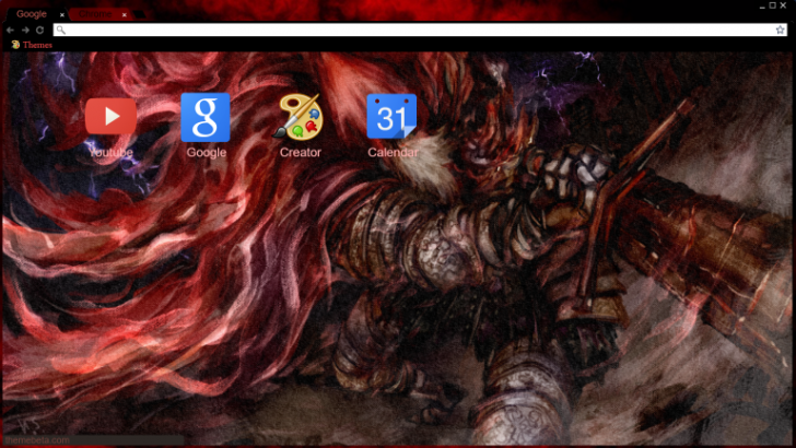 Slave Knight Gael Chrome Theme Themebeta