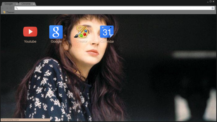 kate bush Chrome Theme - ThemeBeta
