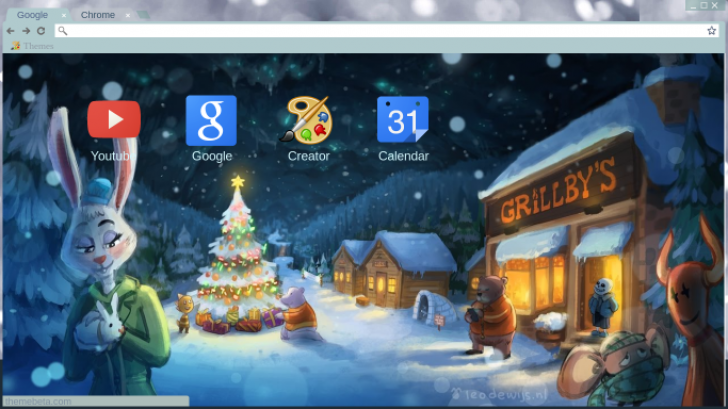 Undertale Christmas.An Undertale Christmas Chrome Theme Themebeta