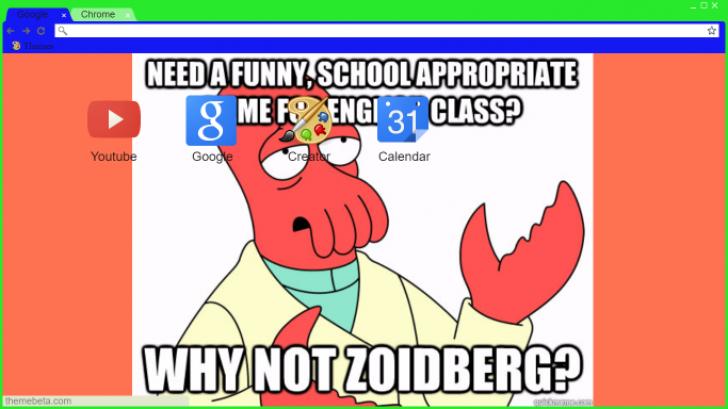 Zoidberg Meme Chrome Theme Themebeta