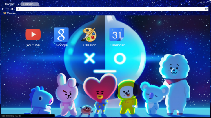 bt21 -bts characters for line - chrome theme