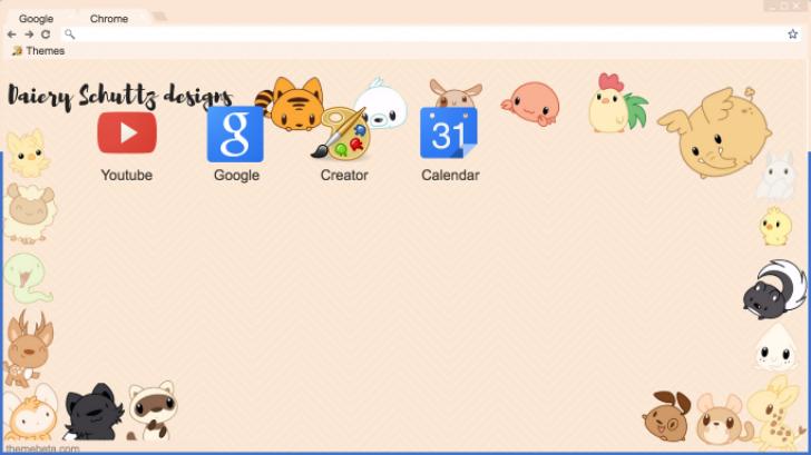 Chibi Animals Chrome Theme Themebeta
