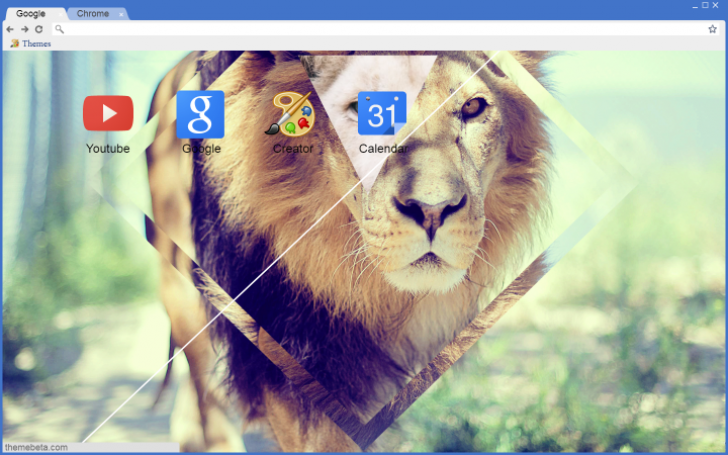 Hipster Lion Wallpaper Chrome Theme