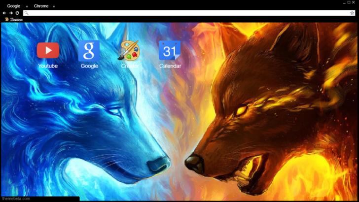 Good Wolf Vs Bad Wolf Chrome Theme Themebeta