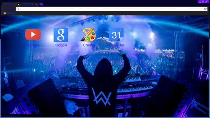 Alan Walker Wallpaper Theme Br Chrome Theme Themebeta