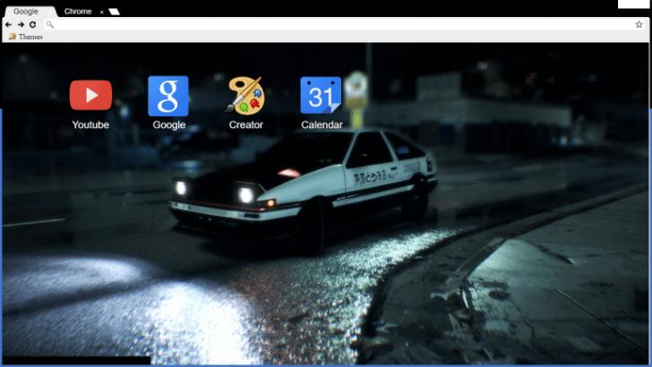 initial d ae86 need for speed theme chrome theme themebeta