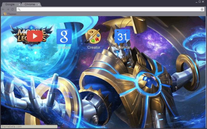Mobile Legends - Estes - Galaxy Dominator Chrome Theme - ThemeBeta