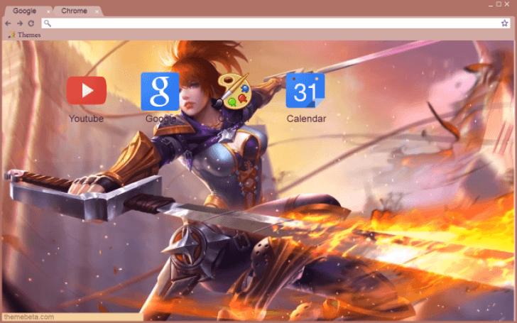 Mobile Legends - Fanny - Hovering Blade Chrome Theme - ThemeBeta