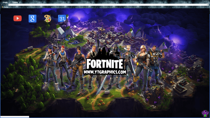 Fortnite Battle Royale HD Wallpaper Theme