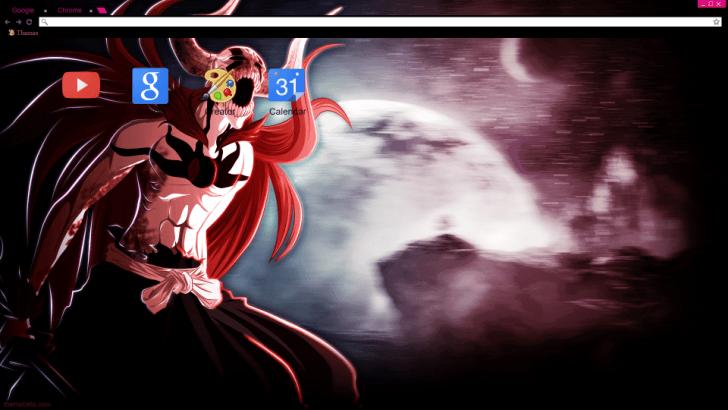ichigo vasto lorde chrome theme themebeta