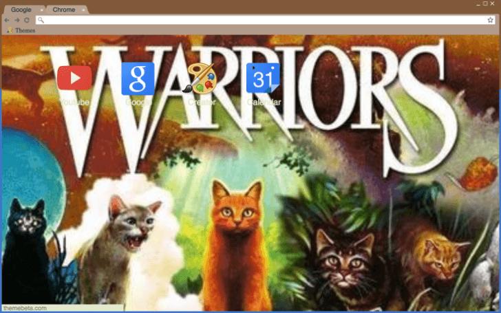 Warrior cats wallpaper Chrome Theme , ThemeBeta