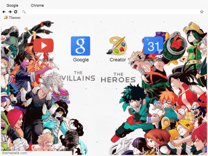 My Hero Academia Chrome Theme Themebeta