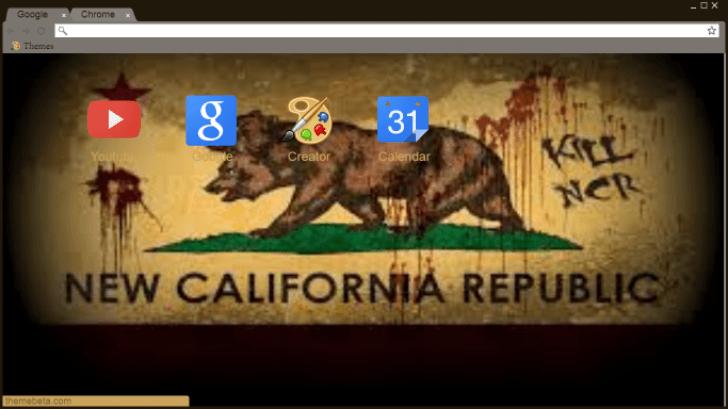 Fallout New Vegas NCR Flag Chrome Theme - ThemeBeta