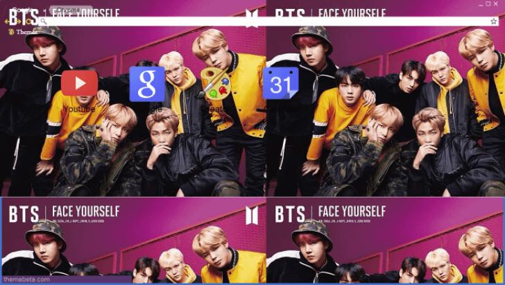 BTS - FACE YOURSELF Chrome Theme - ThemeBeta
