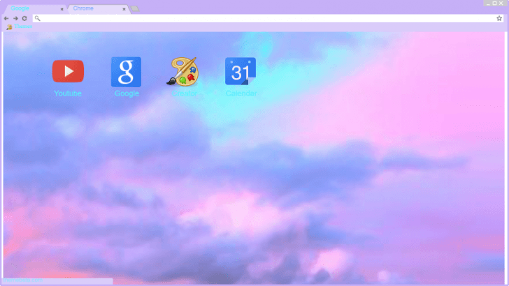 Pastel Tumblr Clouds 3 Chrome Theme