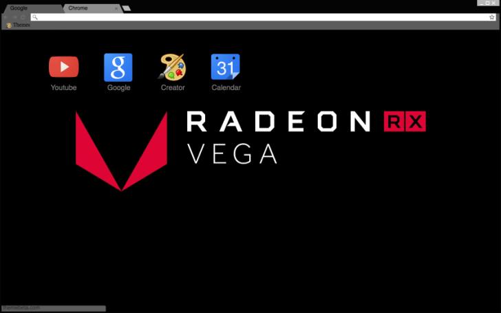 AMD RX VEGA Chrome Theme - ThemeBeta