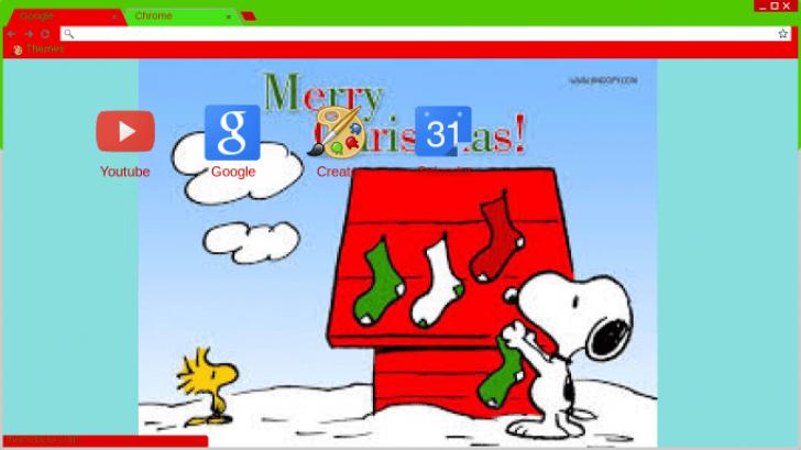 woodstock and snoopys christmas chrome theme themebeta - Snoopys Christmas