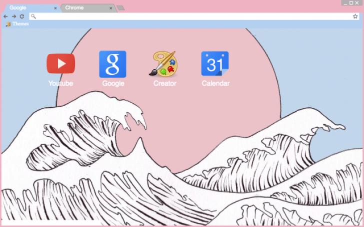Aesthetic Waves Chrome Theme Themebeta