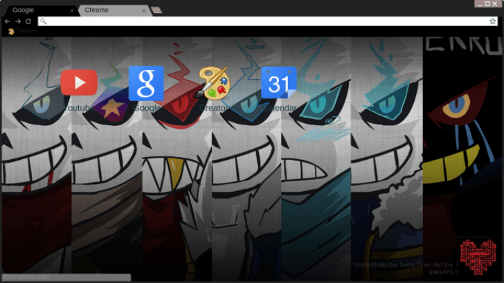 Undertale Au Sans Chrome Theme Themebeta