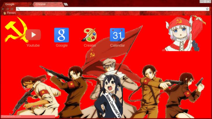 Anime Communism 20 Chrome Theme Themebeta