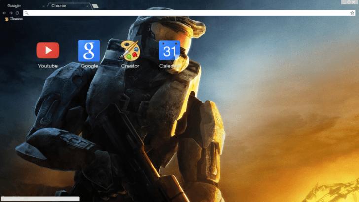 Halo 3 Chrome Theme Chrome Theme - ThemeBeta