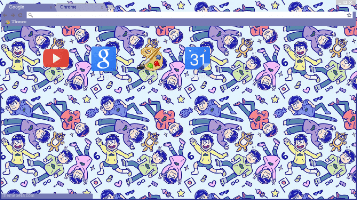 Osomatsu San Wallpaper Chrome Theme Themebeta