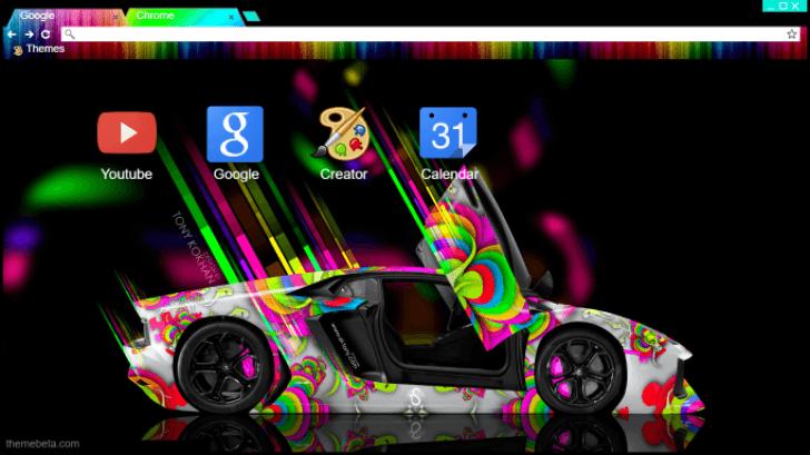 Lamborghini Aventador Lp700 4 Different Rainbow Chrome Theme Themebeta