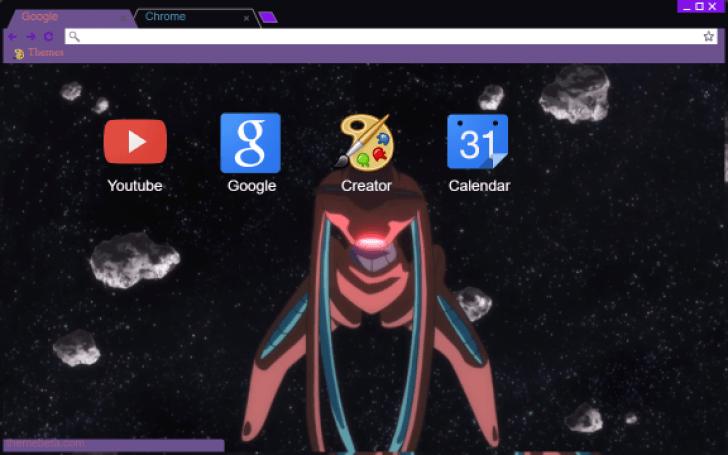 Deoxys Pokemon Generations Chrome Theme - ThemeBeta