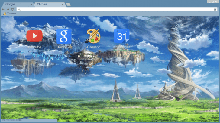 sword art online background hd chrome theme themebeta