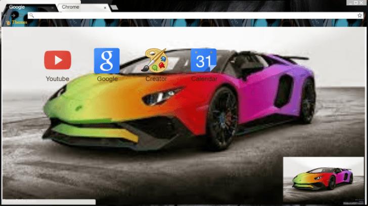 Rainbow Lambo Chrome Theme Themebeta