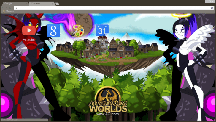 AdventureQuest Worlds Chrome Theme - ThemeBeta