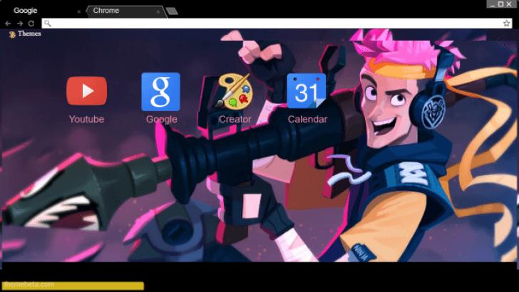 Ninja Fortnite Wallpaper Chrome Theme