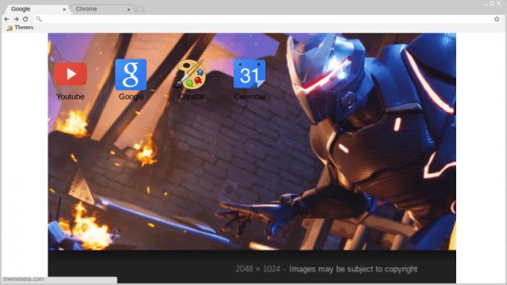 Omega Wallpaper Fortnite Chrome Theme Themebeta