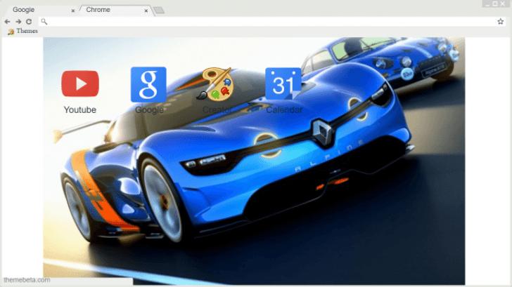 Renault Alpine Chrome Theme - ThemeBeta