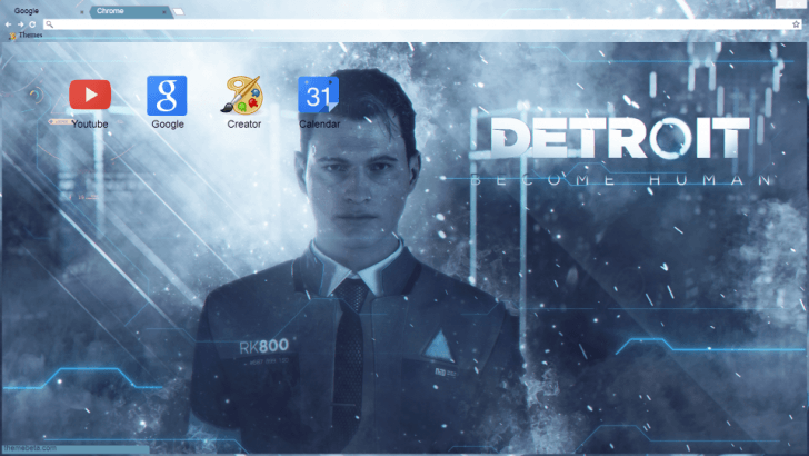 Connor Detroit Become Human Wallpaper: Connor : Detroit Become Human Chrome Theme