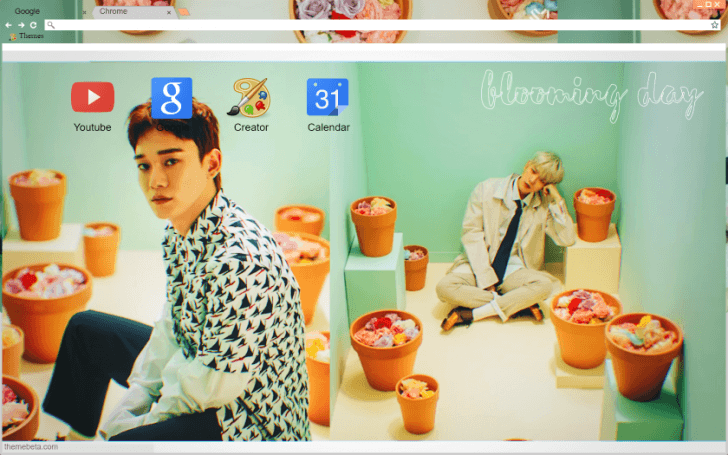 Kpop Exo Cbx Blooming Day Wallpaper Chrome Theme Themebeta