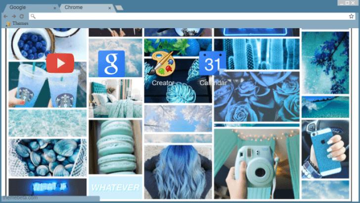 Blue tumblr background Chrome Theme - ThemeBeta