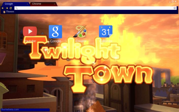 キングダムハーツ kingdom hearts twilight town chrome theme themebeta
