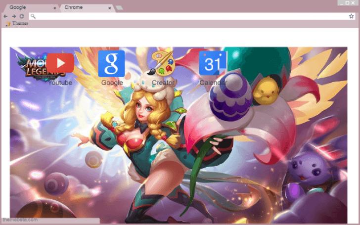 MLBB Mobile Legend - Rafaela Flower Fairy Chrome Theme - ThemeBeta